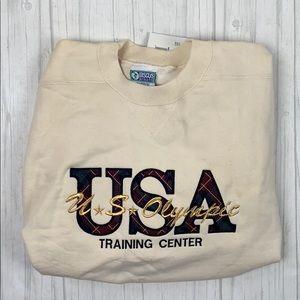 NWT Vintage USA Olympic sweatshirt discus athletic
